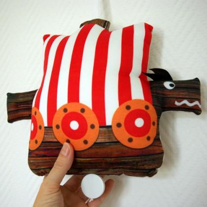 Spieluhr - Mini Drakkar Schiff