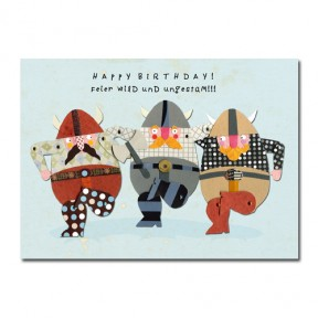 "Postkarte Wikinger ""Happy Birthday!"""