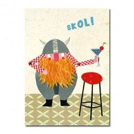 "Postkarte Wikinger ""Skol!"""