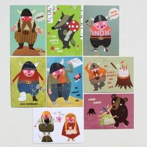 8 Postkarten Wikingerwelt