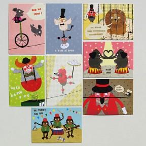 8 Postkarten Zirkuswelt