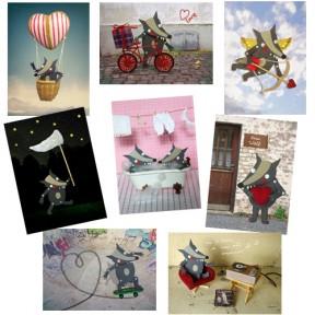 """8 Postkarten """"Liebesgrüsse vom Olf"""""""